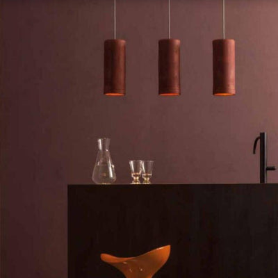 Galestro Suspended Pendant in Mattone - Lighting Collective