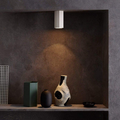 Geometric Plaster Ceiling Light in Small | Lighting Collective