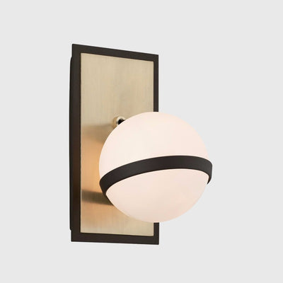 Glossy Sphere Brushed Brass Wall Light | Lighting Collective