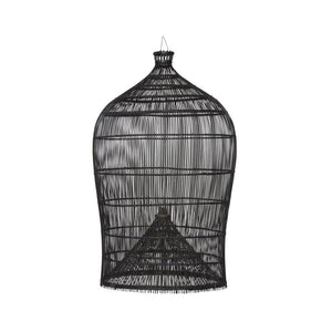 Grand Bell Black Rattan Pendant-Pendants-St Barts-Lighting Collective
