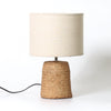 Rattan Weave Organic Table Lamp Concrete | Lighting Collective