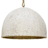 Organic Clay Rattan Pendant | Assorted Size small