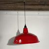 Red Vintage Industrial Pendant Light | Display