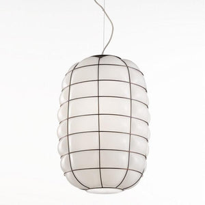 Italian Made Murano Glass Lantern Pendant Light-Pendants-Siru-Lighting Collective