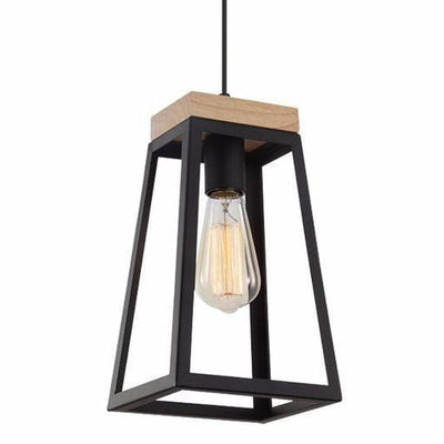 Funky Modern Lantern With Timber Accent Lanterna-Pendants-CLA-Lighting Collective