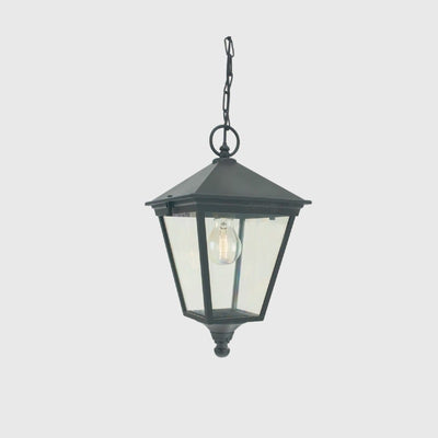 Large Black Traditional Exterior Hanging Lantern - Lighting Collective