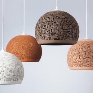 Spanish Ceramic Dome Pendant Light | Assorted Styles