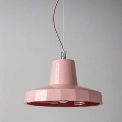 Maiolica Suspended Pendant Salmon - Lighting Collective