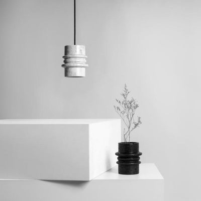 Marble Suspended Pendant in White - Lighting Collective