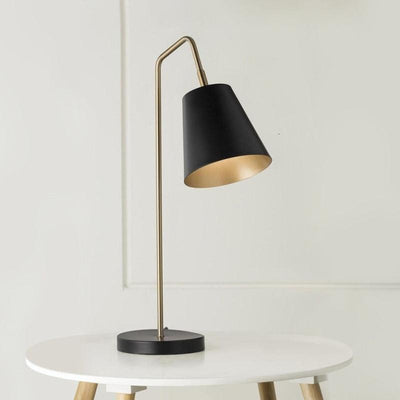 Modern Black & Brass Table Lamp-Lamps-Mayfield-Lighting Collective