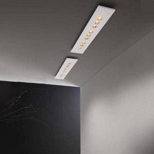 Minimalist Rectangular Flush Mount Ceiling Light-Ceiling Lights-ICONE LUCE (Studio Italia)-Lighting Collective