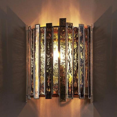 Art Deco Antiqued Mirror Sconce-Wall Lights-Emac & Lawton-Lighting Collective