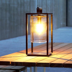 Modern Glass Dome Outdoor Lantern