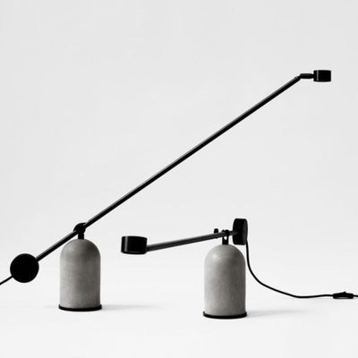 Modern Recycled Concrete Desk Lamp| BENTU | Lighting Collective