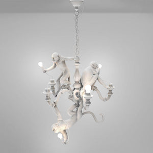 White Monkey Chandelier | White | Lighting Collective