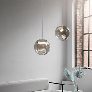 Scandinavian Glass Orb Pendant Light