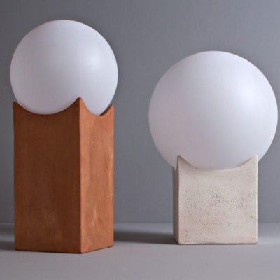 Natural Clay Box Lamp | Small & Large | Lighting Collective