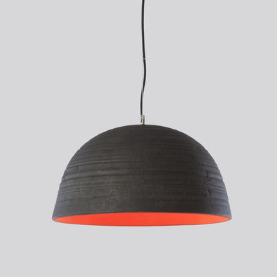 Italian Ceramic Black Pendant Light Notorius Toscot