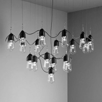 Italian Industrial Chandelier | Assorted Finishes | Lighting Collective