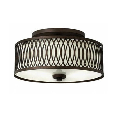 Patterned Vintage Manhattan Ceiling Light-Ceiling Lights-HINKLEY (Elstead)-Lighting Collective