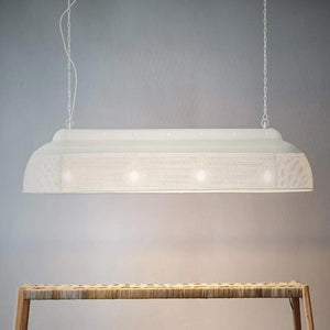 Long Iron Pendant Light | White | Lighting Collective