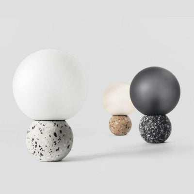 Recycled Stone Spherical Table Lamp - Lighting Collective