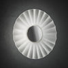 Decorative Satin Glass Wall Light Chrome