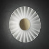 Decorative Satin Glass Wall Light Gold