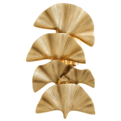 Eclectic Multi Leaf Polished Brass Wall Light | Lighting Collective