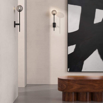 Modern Single Glass Globe Wall Light | Lighting Collective