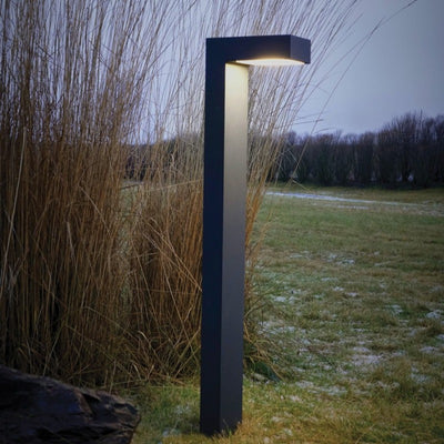 Sleek Modern Angular Bollard Light - Lighting Collective