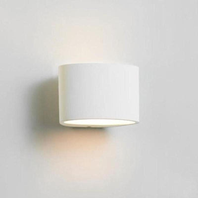 Arc Plaster LED Wall Light | White | Small | Large-Wall Lights-Havit-Lighting Collective