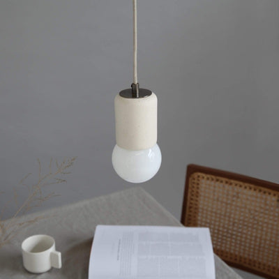 Vanilla Modern Ceramic Suspended Pendant - Lighting Collective