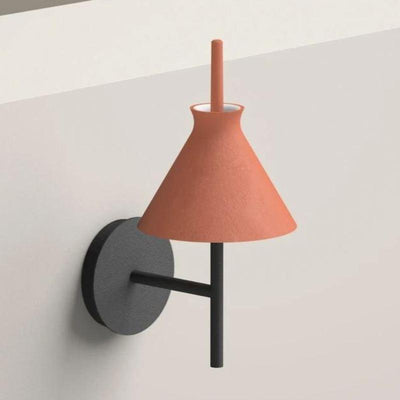 Terracotta Organic Clay Cone Wall Light  - Lighting Collective