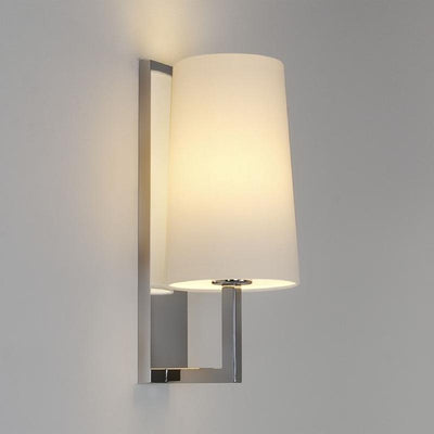 Transitional Slim Shade & Bracket Wall Light | Polished Chrome