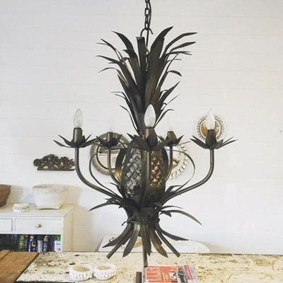 Coastal Style Pineapple Chandelier | Assorted Finishes-Chandeliers-Gypset Cargo-Lighting Collective
