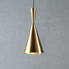Conical Brass Pendant Light