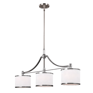 Triple Chrome Component Pendant Light - Lighting Collective