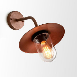 Vintage Aged Copper Exterior Wall Light | Lighting Collective