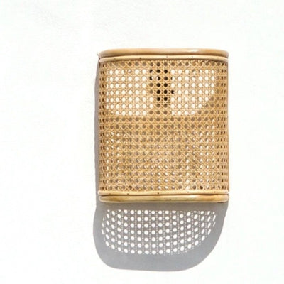 Rattan Weave Wall Sconce | Lighting Collective