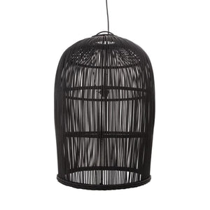 Rustic Black Wicker Pendant-Pendants-Emac & Lawton-Lighting Collective