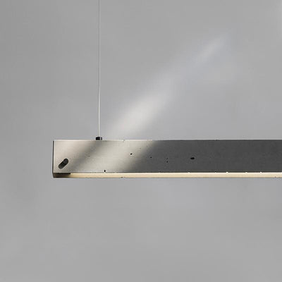 Concrete Linear Pendant Light