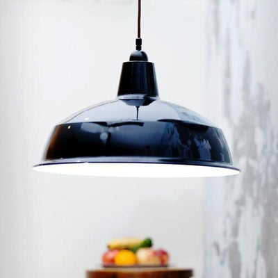 Vintage Industrial Pendant Light | Gloss Black | SALE-Lighting Inspirations (Lode)-Lighting Collective