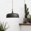 Nordic Styled Pendant Light Black & Timber