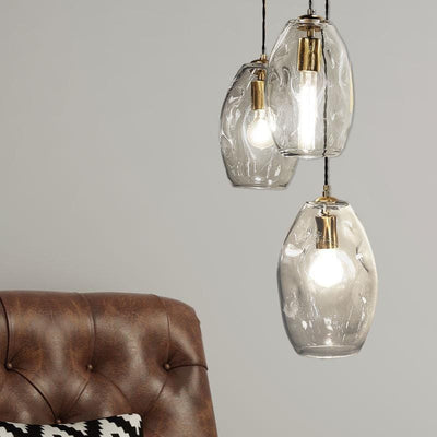 Mouth Blown Glass & Brass Pendant Light-Pendants-Lighting Republic (Light Co)-Lighting Collective