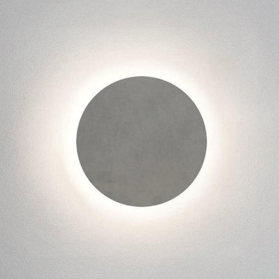 Concrete Minimal Lunar Round LED Wall Light - Lighting Collective
