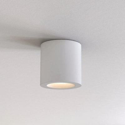 Metallic Round Ceiling Light White