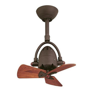 Industrial Style Ceiling Fan with Timber Blades | Assorted Finishes-Ceiling Fans-Atlas (Prestige Fans)-Lighting Collective