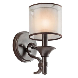 Sleek Contemporary Double Shade Bronze Wall Light - Lighting Collective