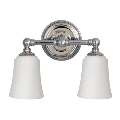 Colonial Chrome and Glass Wall Light | Various Sizes-Wall Lights-ELSTEAD (Lightco) - Lighting Collective